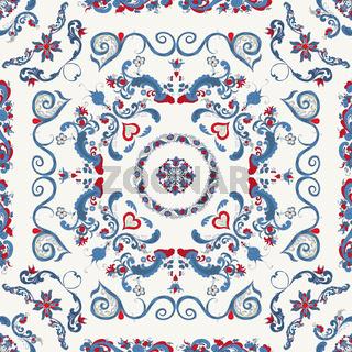 Rosemaling vector pattern 35