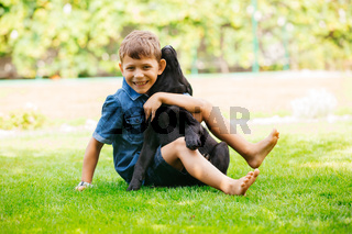 Dogs are kid's best and devoted friends