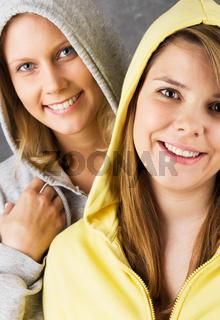 Lächelnde Teenager Mädchen