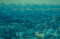 Tokyo area landscape from Yokohama Landmark Tower