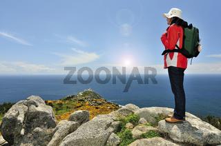 Spanien: Blick aufs Meer am Kap Fisterra