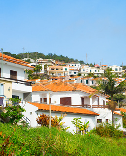 Village typical residential buildings Madeira