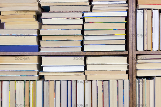 Old Books on a shelf background