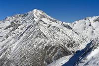 Der Weissmies Gipfel im Winter, Saas-Fee, Wallis, Schweiz