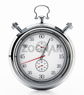 Fictitious analogue chronometer isolated on white background. 3D illustration