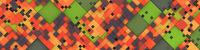 wide modern color tiles background banner