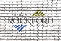 flag of Rockford, Illinois painted on brick wall
