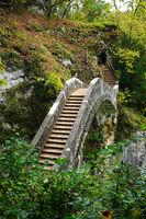 Teufelsbrücke im fürstlichen Park Inzigkofen; Naturpark Obere Donau; Baden Württemberg, Deutschland