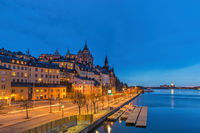 Stockholm Sweden, night city skyline at Gamla Stan and Slussen