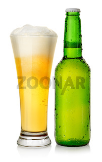 Bottle and mug beer