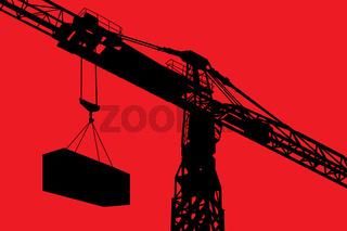 Working crane illustration background