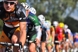 Gruppe von Rennradfahrern