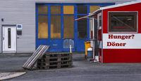 Der Kiosk vor der Firma