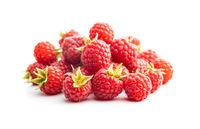 Fresh red raspberries.