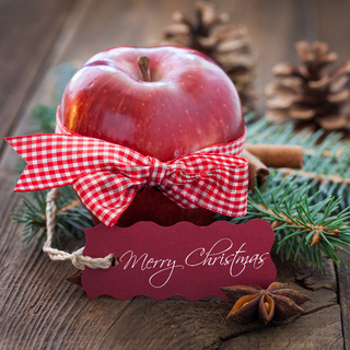 Merry christmas apple