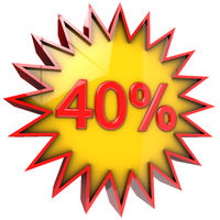 star discount of forty percent