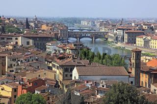 Blick von der Piazza Michelangelo auf die Stadt