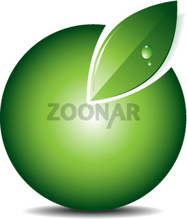 Green icon/emblem/logo vector