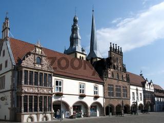 Lemgo Ratsapotheke und Rathaus am Marktplatz
