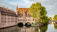 Panoramic view with Hospice of the Holy Spirit in Nuremberg
