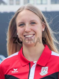 deutsche Schwimmerin Celine Rieder SC Magdeburg bei Verabschiedung für Tokio Olympia 2021