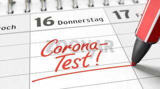 Termin für Corona-Test in den Kalender eintragen