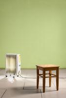 Heating radiator in empty room