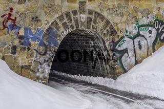 Winter in der Stadt - Die Unterfuehrung.