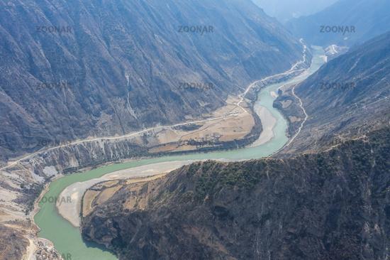 beautiful nujiang river landscape