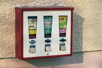 Vintage chewing gum vending machine