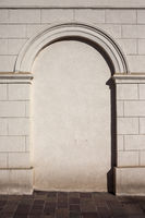 Classical Wall Background With Arched Niche