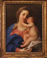 Rome, Galleria Borghese. Madonna and child