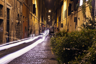 Narrow streets of old Rome