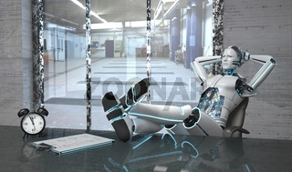 Relaxing Robot Lunch Hour