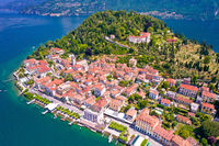 Town of Belaggio on Como Lake aerial landscape view
