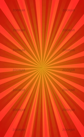 Abstract image, orange rays of the sun on a red background - Vector