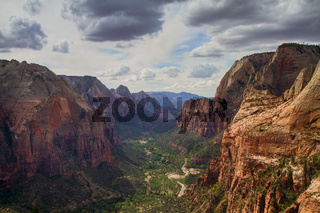 Panorama of the Zion Ntional Park