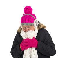 Healthy winter woman