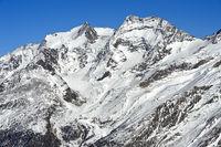 Gipfel Fletschhorn und Lagginhorn, Saas-Fee, Wallis, Schweiz