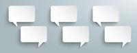 Rectangle Paper Speech Bubbles Kommunication Header