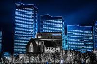 Yokohama Minato Mirais night scene (all building light up)
