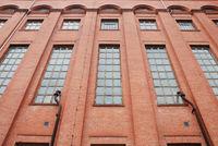 Fassade eines alten Fabrikgebäudes