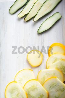 Zucchini Scheiben