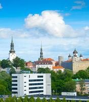 Skyline Tallin castle churches Estonia