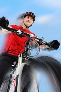 portrait of a cyclist.