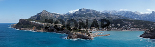 Panoramablick nach Port de Soller auf Mallorca