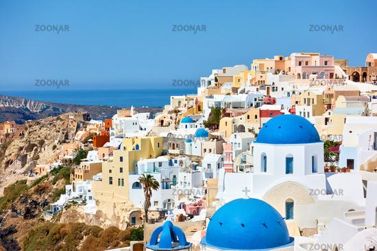 Oia town Santorini in Greece