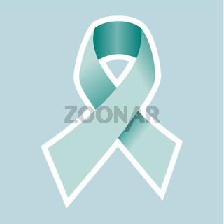 Prostate Cancer symbol in blue