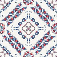 Rosemaling vector pattern 12