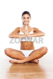 fitness brunette woman